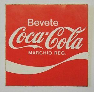 VECCHIO ADESIVO ORIGINALE / Old Original Sticker COCA COLA (cm 8.5 x 9) L