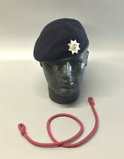 British Army-Issue Cheshire Regiment Beret, Badge & Lanyard. Size 55cm.