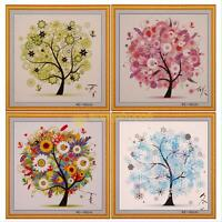 DIY Colorful Four Season Tree Counted Cross Stitch Kit Embroidery Christmas Gift