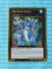 Tri-Edge Levia PGLD-EN026 Gold Secret Rare Yu-Gi-Oh Card 1st Edit New