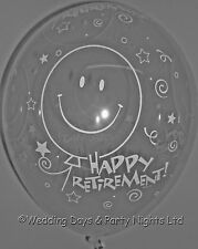 20 Clear Happy Retirement Helium or Air Balloons Party Decorations Qualatex 11""