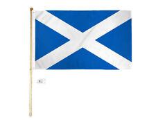 5' Wood Flag Pole Kit Wall Mount Bracket 3x5 Scotland Cross Country Poly Flag