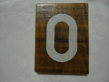 Rustic Reclaimed Wood House Number ~0 ~ white