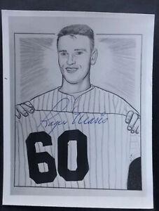 "Roger Maris Signed Autographed 4""x5"" Photo. JSA"