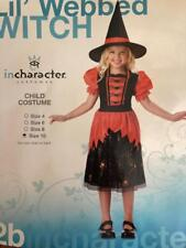 Cute Girl's Webbed Witch Dress with Hat Kids Children Halloween Costume New