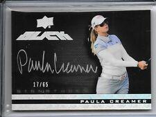 2014 UD Exquisite Black Paula Creamer Auto # 17/65 Autograph Silver Ink