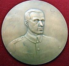 STUNNING Bronze Poland Major Bronislaw Lachowicz Commemorative Medal 70mm Cased