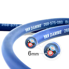 Van Damme Blue Series Studio 2x6mm Twin Axial Speaker Cable 1m - Unterminated