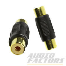 Gold Plated RCA Female to Female Phono Coupler Audio Video AV Adapter Connector