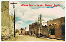 Vintage Old Postcard United States Oldest House Advertising Santa Fe New Mexico