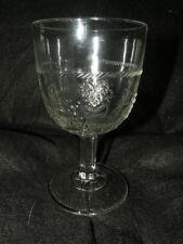 ANTIQUE EAPG CURRANT PATTERN GLASS GOBLET CAMPBELL JONES & CO. C 1871