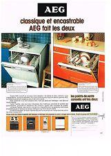 PUBLICITE  1977   AEG  lave vaisselle