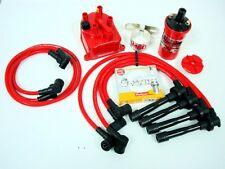 vms racing 92-01 honda prelude h22 msd coil wires ngk plugs distributor cap  kit