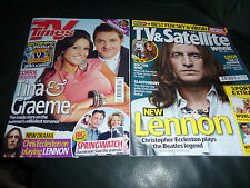 TV Times June 2010 + TV and Satellite Week June 2010, Doctor Who, John Lennon.