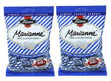 Fazer Marianne Bleu Menthe poivrée Bonbons Rempli avec Caramel 2 x 220 g 2 Sacs