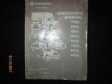 International Navistar Trucks 1000 - 9000 Operator`s Manual Original 1989