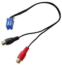 Adaptador cable AUX mini ISO - RCA para SMART Fortwo Forfour autoradio Grundig