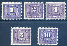 Canada 1930 -32 set 5 postage dues mint
