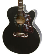 More details for epiphone ej-200sce electro acoustic guitar, black (new)