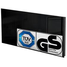 Chauffage infrarouge en verre electrique 850 watt radiant radiateur IP44 noir