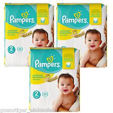 3x 31 = 93 Pampers Premium Protezione New Baby Taglia 2 Pannolino 3-6 kg