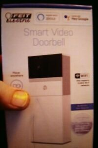 NEW - FEIT Electric Smart Video Doorbell 2.4 GHz Wi-fi ONLY Rechargeable Battery