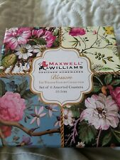 New Maxwell Williams Blossom Set Of 6 Coasters In Box