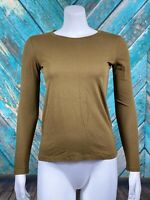 Madewell Women's Northside Vintage Long Sleeve Tee Shirt XXS Kale Slim Cotton