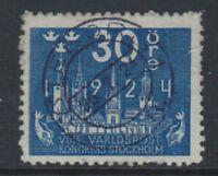 Sweden - 1924, 30 ore Congress of UPU stamp - F/U - SG 151