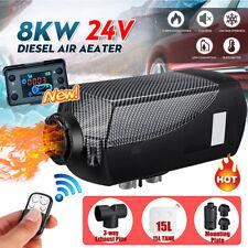 24V 8000W 8KW Air Diesel Heater 15L Tank LCD Switch Remote Trucks Boat
