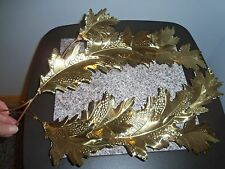 VINTAGE HOME INTERIOR BRASS / METAL LEAF WALL ACCENT HANGINGS