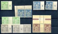 Francia 1879 77,83,84,69 ** post frescos lot extras (z0800