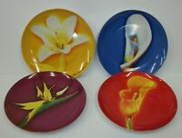 "Set of 4 Givenchy Parfums Le Fleurs Floral 8 1/4"" Plates"