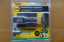 Yale P89 Chrome deadlocking nightlatch rim cylinder lock P-89-CH-CH-60