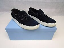 AUTHENTIC LANVIN PARIS MENS SLIP ON DECK SHOES SNEAKERS TRAINERS SIZE 42 UK 8