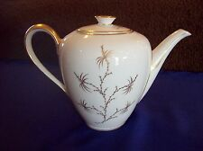 """ROSENTHAL """"GOLDEN PALM"""" CHINA, COFFEE POT W/LID, 7""""TALL"""