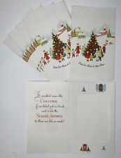 Vintage Lot Of 6 Photo Christmas Greeting Cards - Unused