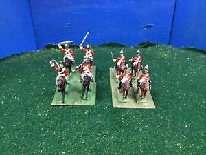 British Heavy Dragoons x8 Painted Toy Soldiers 30mm 25mm Lot 293