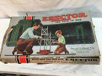 Vintage Gilbert No. 6 1/2 Erector Set 100 Toys in One w/ Box Motor Manual 1951