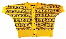 Vintage Women's Sweater 1990s Street Style Sweater Boho Witch Crop Yellow L