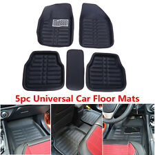 5pcs Black Floor Mat Foot Pad Front/Rear Liner Waterproof All Weather For Car