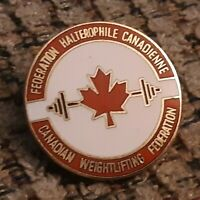 Canadian Weightlifting Federation Association enamel pin/badge pinback button