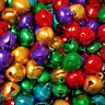 10mm Assorted Jeweltone NO Jingle Decorative ONLY Bells Craft Charms Holiday
