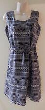 Zara TrF Collection Navy and White Silk Shift Dress size Medium
