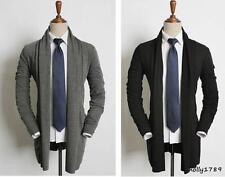 Spring Fashion Mens Korean Loose Mantle Cloak Long Sleeve Cosplay Snap Coat Cape