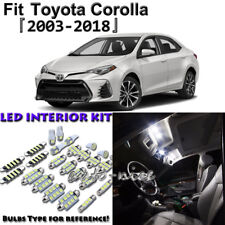6x White Interior LED Light Package Kit for Toyota Corolla 2003 - 2016 2017 2018