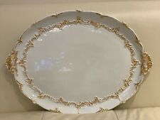 Early Meissen Porcelain Circa 1800's Platter or Tray with Unglazed Underside