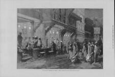 1875 Antique Print - INDIA Prince Wales Feast Lanterns Bombay Street (289)