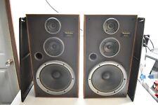"NICE VINTAGE TECHNICS 3-WAY SPEAKERS SB-LX7 8 OHMS 200 WATTS 12"" WOOFER USA Made"