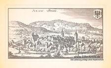 Aarau Aare libero città svizzera Aargau schlössli monastero superiore Torre Merian 0953